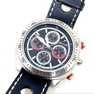 Men's Chronograph Watch Sector 270 Leather Band